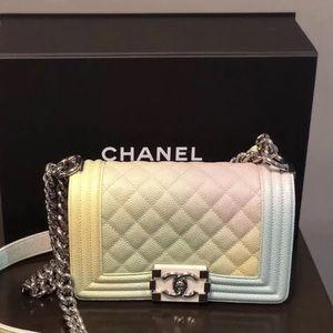 Chanel Rainbow Multicolor Boy Bag